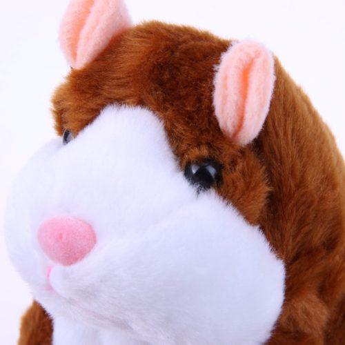 Мягкая игрушка говорящий хомяк повторюшка