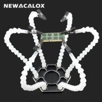 Newacalox Универсальный гибкий держатель с 6 руками для пайки