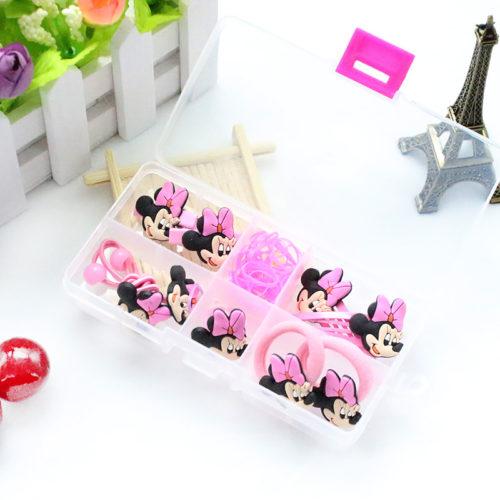 Набор красивых аксессуаров для волос с Минни Маус в подарочной коробке для девочек