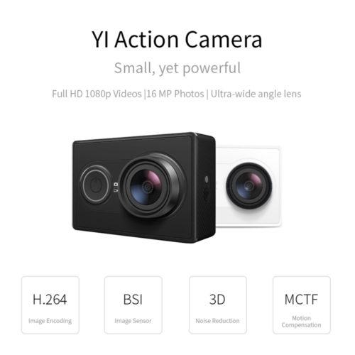 Экшн камера Xiaomi YI 1080 P Full HD 155° + монопод