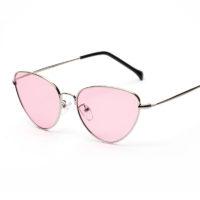 Женские солнцезащитные треугольные очки кошачий глаз