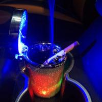 Светодиодная пепельница с подсветкой в автомобиль в подстаканник