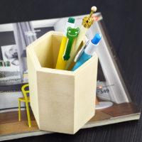 Деревянная заготовка стакан подставка для карандашей для декупажа