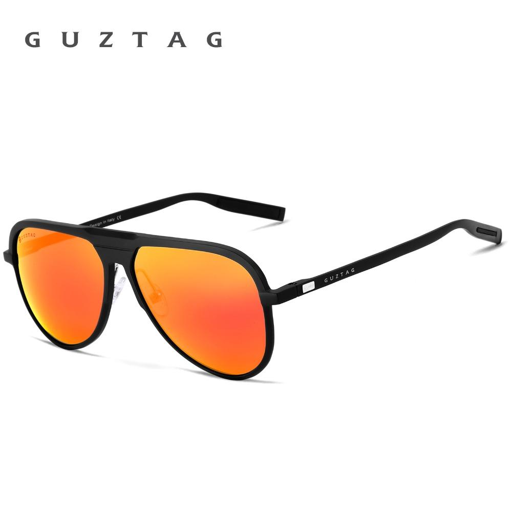 ... GUZTAG Мужские поляризованные солнцезащитные очки с зеркальными  антибликовыми линзами 9c9eaec7cda