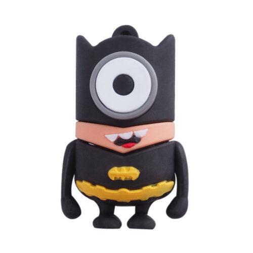 USB флеш-накопитель силиконовая флешка в виде миньонов-супергероев 4/8/16/32/64 ГБ