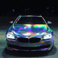Голографическая виниловая пленка для авто