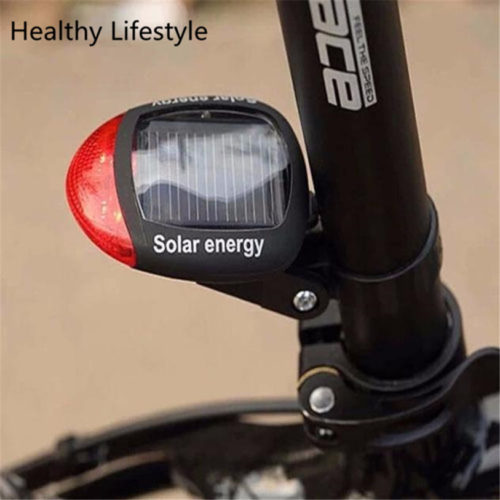 Задний велосипедный стоп-сигнал фонарь на солнечной батарее