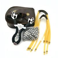 Рогатка + 100 шт. стальных шариков + 2 резинки + сумка