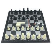 Магнитный мини набор настольных игр 3 в 1 – шахматы, шашки, нарды