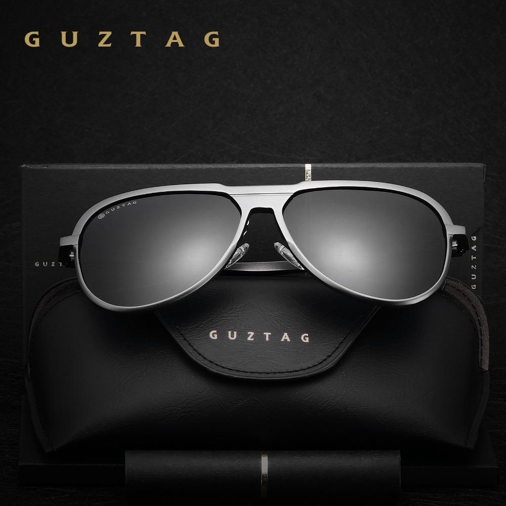GUZTAG Мужские поляризованные солнцезащитные очки с зеркальными  антибликовыми линзами ... a0ec8a528f5
