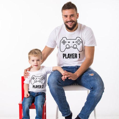Прикольные одинаковые футболки с надписями для папы и сына