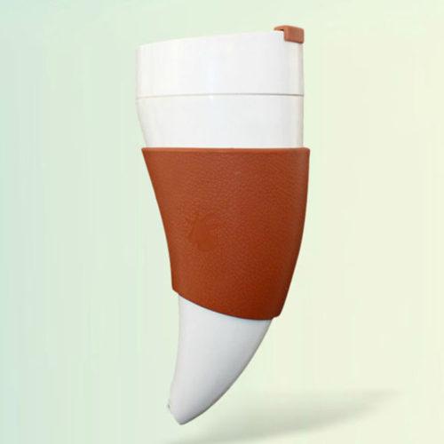 Термокружка (термос) из нержавеющей стали в виде кривого рога