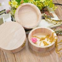 Деревянная заготовка круглая шкатулка для декупажа (диаметр 10 см)