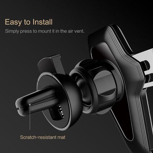 Rock Универсальный металлический держатель для телефона в автомобиль на вентиляционную решетку