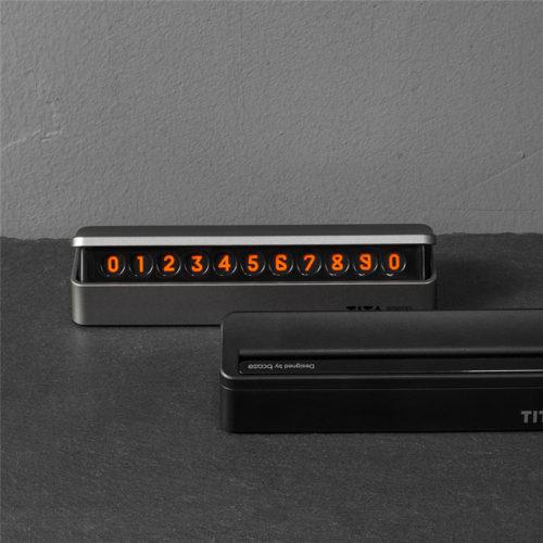Флуоресцентный номер телефона на панель автомобиля