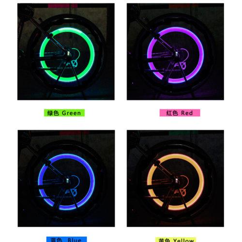 Светодиодная LED подсветка на колеса велосипеда