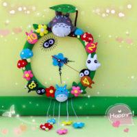 Фетровые настенные часы DIY набор рукоделия для детей