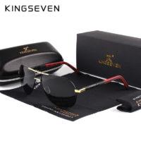 KINGSEVEN Мужские классические поляризованные солнцезащитные очки авиаторы с антибликовыми линзами
