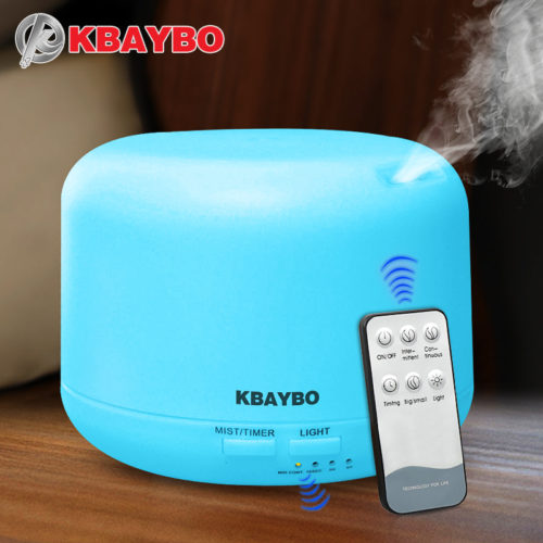 KBAYBO Ультразвуковой светодиодный бесшумный увлажнитель 300 мл арома диффузор для эфирных масел с дистанционным управлением