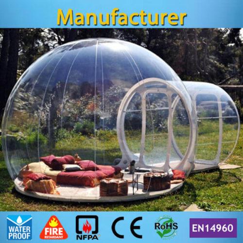Надувная прозрачная палатка купол шар