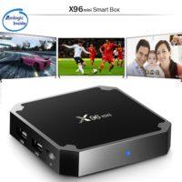 Беспроводной медиаплеер смарт тв-приставка к телевизору VONTAR mini X96 Android 7.1 + пульт