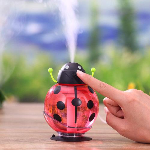 Ультразвуковой портативный светодиодный USB увлажнитель воздуха 260 мл арома диффузор для эфирных масел в божьей коровки