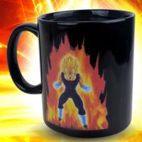 Керамическая термокружка хамелеон с рисунком персонажа Вегета из Dragon Ball Z, который меняется при нагревании
