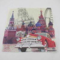 Салфетки для декупажа с изображением Кремля (Москва)