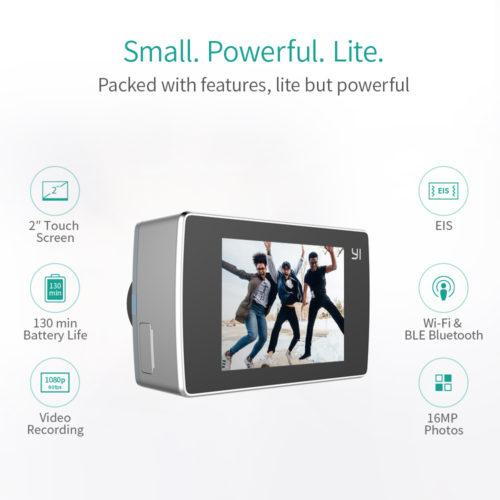 Спортивная экшн камера Yi Lite 4К 150° с экраном 2″