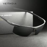VEITHDIA Мужские солнцезащитные поляризованные очки с пластиковой оправой и зеркальными линзами для вождения