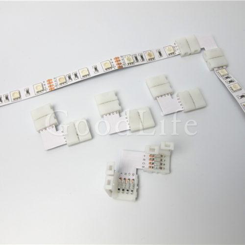 Угловой разъем коннектор для соединения светодиодных лент