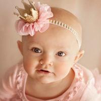 Детская повязка на голову с короной для девочки
