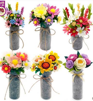 DIY наборы фетровые цветы в вазе