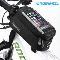 ROSWHEEL Сумка для телефона с прозрачным сенсорным экраном на раму велосипеда