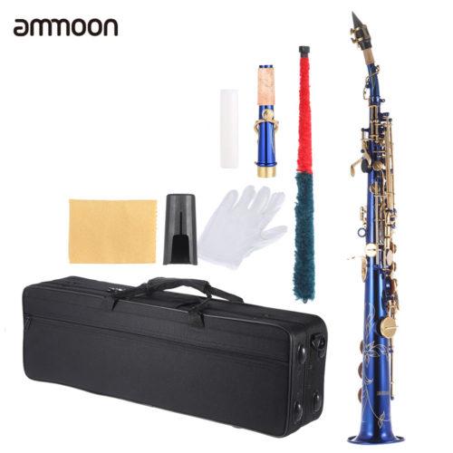 Саксофон-сопрано с чехлом и принадлежностями