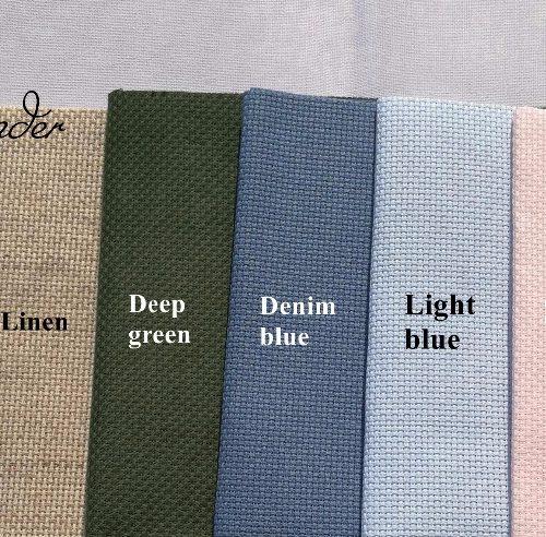 Канва ткань для вышивания крестиком 25×25 см Aida 14ct (разные цвета)