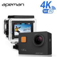 Спортивная водонепроницаемая экшн камера Apeman 4K A80 Pro 170° 20MP с экраном 2″