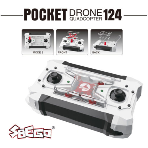 Sbego FQ777-124 Pocket Drone Мини RC квадрокоптер 4CH 4 канала