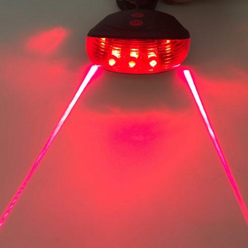 Задний велосипедный фонарь с лазерной проекцией-дорожкой Laser Tail Light