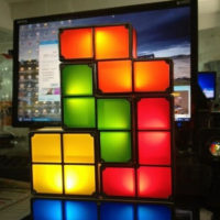 Настольная светодиодная LED лампа Тетрис