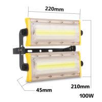 Мощный светодиодный водонепроницаемый прожектор на 50, 100 или 150 Вт