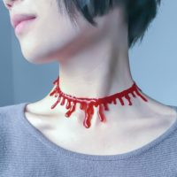 Кровавый чокер на шею