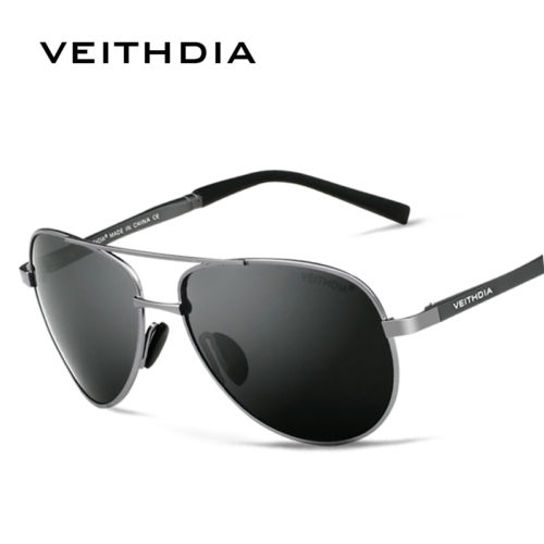 VEITHDIA Мужские классические поляризованные солнцезащитные очки авиаторы с антибликовыми линзами