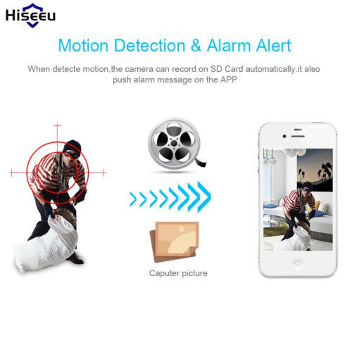 Hiseeu беспроводная Wi-Fi Ip-камера видеонаблюдения 1080 P с функцией ночного видения и поддержкой карт памяти