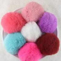 Резинки для волос с пушистым помпоном из искусственного меха кролика 6 шт.
