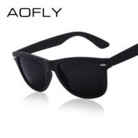 Мужские солнцезащитные очки полароид с пластиковой оправой и зеркальным покрытием линз (защита от УФ лучей и антибликов)