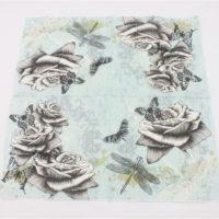 Салфетки для декупажа Роза и бабочки 33х33 см 20 шт.