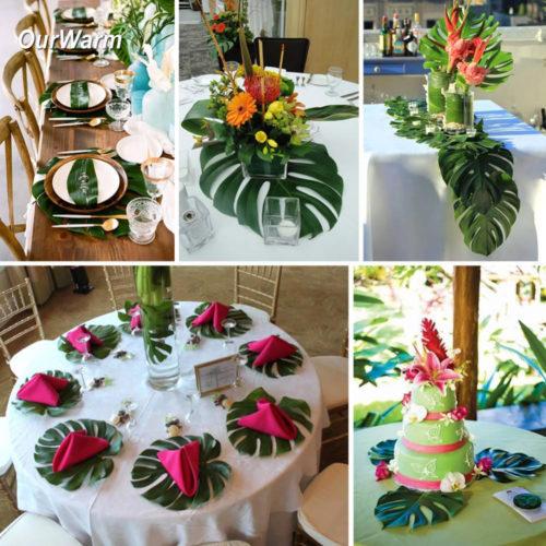Искусственные тропические листья пальмы 12 шт. 35×29 см