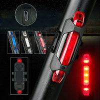 Задний водонепроницаемый USB фонарь на велосипед