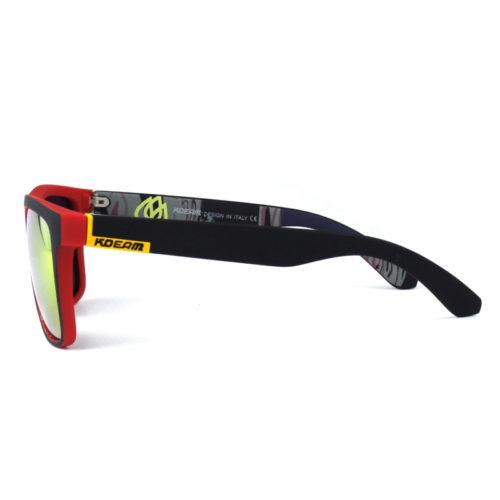 KDEAM Мужские классические солнцезащитные очки с оправой из ацетата и зеркальными антибликовыми линзами